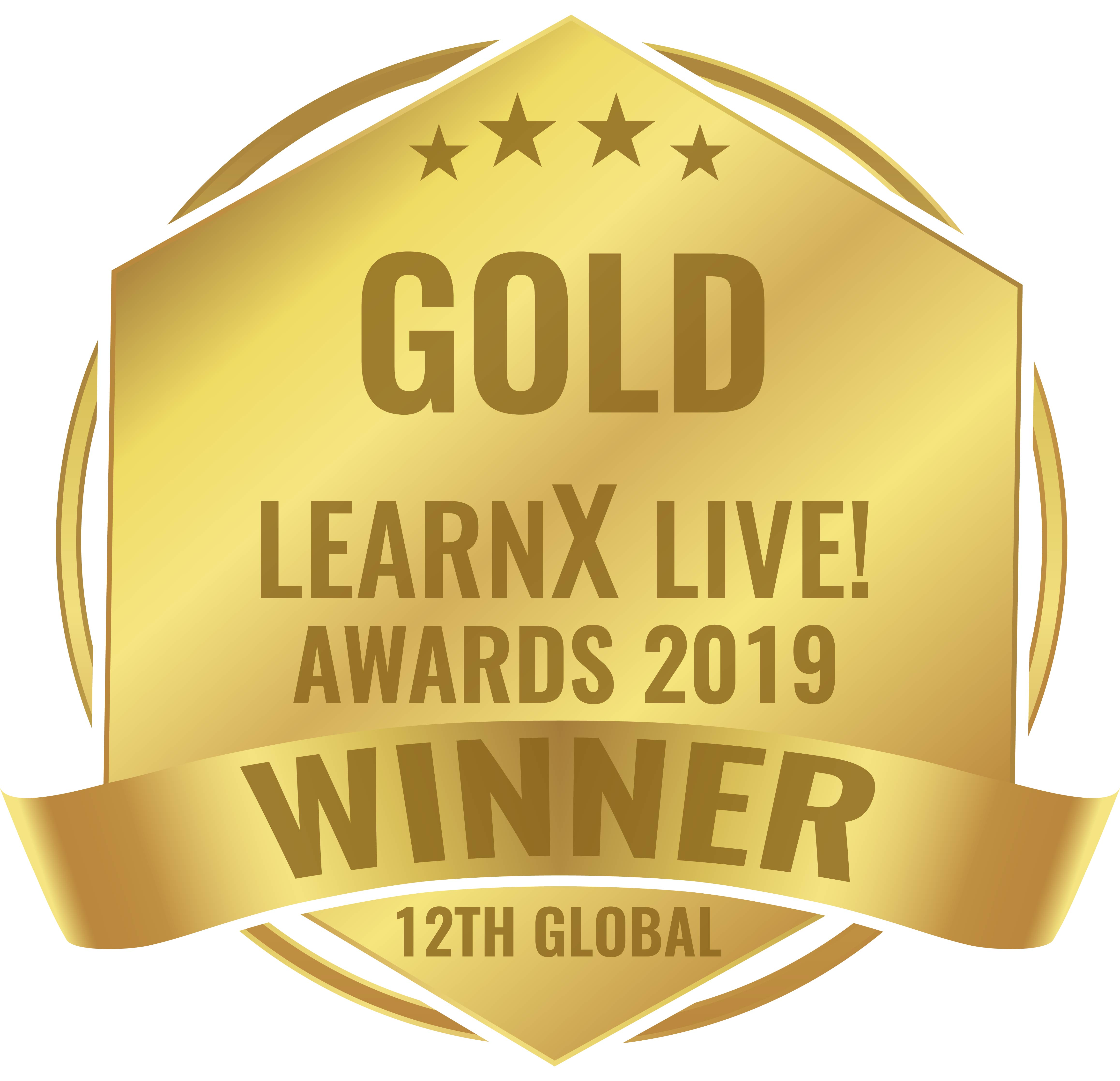 2019 LearnX Gold Logo